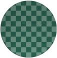 rug #221217 | round blue-green check rug