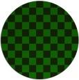rug #221229 | round green check rug