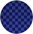 rug #221265 | round blue-violet retro rug