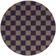rug #221269 | round blue-violet retro rug