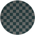 rug #221289 | round green check rug