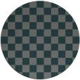 rug #221289 | round blue-green check rug