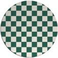 rug #221293 | round blue-green check rug