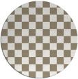 rug #221301 | round check rug