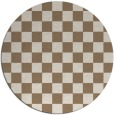 rug #221313 | round mid-brown retro rug
