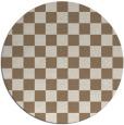 rug #221314   round check rug