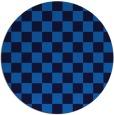 rug #221329 | round blue check rug