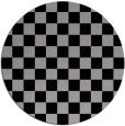 rug #221333   round check rug
