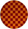 rug #221349 | round red-orange check rug