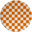 rug #221353 | round orange check rug