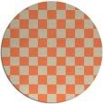 rug #221357 | round orange retro rug