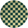 rug #221365 | round yellow check rug