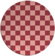 rug #221378   round check rug