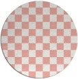rug #221381 | round white check rug