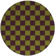 rug #221389 | round green check rug