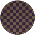 rug #221393 | round purple check rug