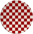 rug #221401 | round red check rug