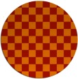 rug #221405 | round red check rug