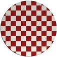 rug #221409 | round red check rug