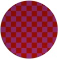 rug #221413 | round red check rug