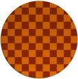 rug #221417 | round red-orange check rug