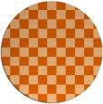 rug #221421 | round red-orange check rug