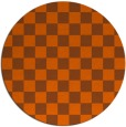 rug #221425 | round red-orange check rug