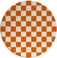 rug #221429 | round red-orange check rug