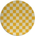 rug #221449 | round yellow check rug