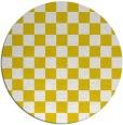 rug #221461 | round yellow check rug