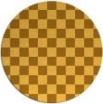 rug #221465 | round yellow check rug