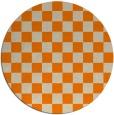 rug #221477 | round orange check rug