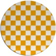 rug #221497 | round light-orange check rug