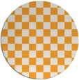 rug #221509 | round light-orange check rug