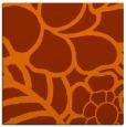 rug #222121 | square red-orange graphic rug