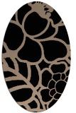 rug #222229 | oval beige graphic rug