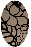 rug #222230 | oval graphic rug