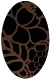 rug #222233 | oval brown graphic rug