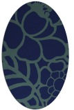 rug #222249   oval blue graphic rug