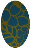 rug #222277 | oval blue-green natural rug