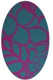 rug #222281 | oval pink graphic rug