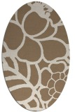 rug #222369 | oval mid-brown rug