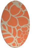rug #222413 | oval beige natural rug