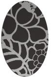 rug #222417 | oval orange popular rug