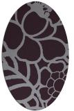 rug #222453   oval purple natural rug