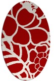 rug #222457 | oval red graphic rug
