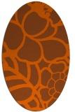 rug #222481   oval red-orange rug