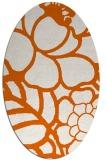 rug #222485 | oval red-orange graphic rug