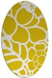 rug #222517   oval yellow graphic rug