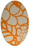 rug #222533   oval orange graphic rug